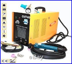 60 Amp 220V Digital Inverter DC Air Plasma Cutter 23mm Cut Machine CUT60 WithGauge