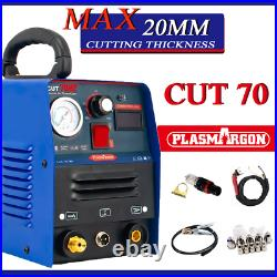70 AMP 20mm Cut HF Start Air Plasma Cutter Included With Air Compressor
