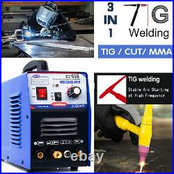 Cut&TIG&MMA Air CT312 Plasma Cutter 3 functions in 1 Welding Machine 110/220V