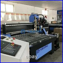 New 15001500mm Plasma Metal Cutting Machine Table, CNC Cutter With Rotary Pipe