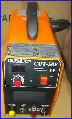Non-Touch Pilot Arc Plasma Cutter CUT50F 220V 18 Consumables 50AMP Cutting NEW