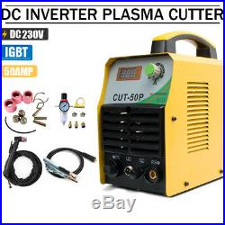 Pilot Arc Plasma Cutter 50A Inverter IGBT 220V Cutting Machine WSD60P Torch &Kit